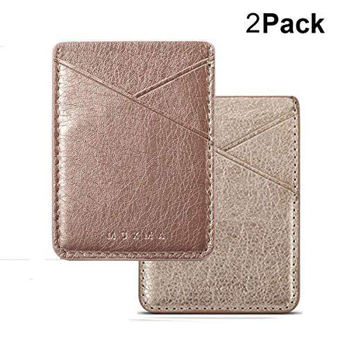 Phone Wallet Kreditkarte Halterung für Rückseite des Handy Pocket Stick auf iPhone Wallet Fall, Gold+Rose Gold
