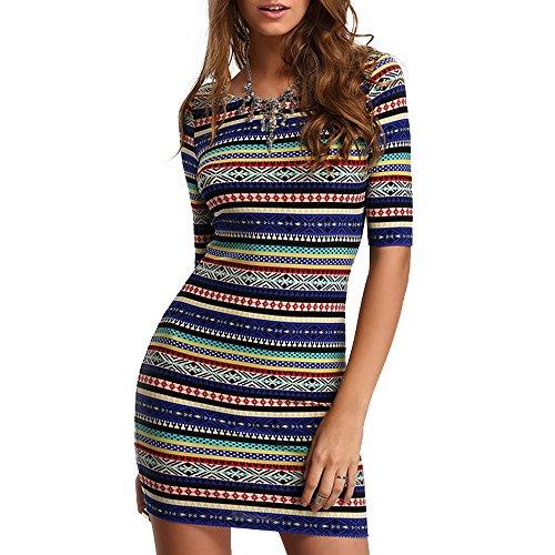Femmes été Robes élastiques occasionnels jupe courte bodycon sexy robe pour fille chaude dame partie de mode Clubwear Multicolore