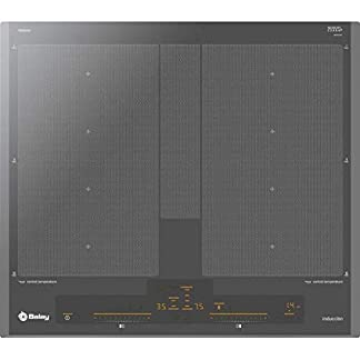 Balay 3EB960AU hobs Titanio Integrado Sin – Placa (Titanio, Integrado, Sin placa de inducción, 3300 W, Rectangular, 225 x 380 mm)