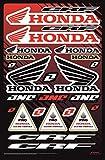 KIT Fox Autocollants Sponsor Moto COMPATIBILE pour Honda Yamaha KTM Cross Casque Enduro (36)