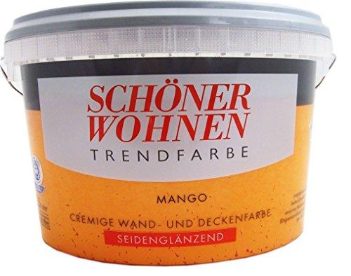 Schöner Wohnen Trendfarben - Seidenglänzend- Mango - 2,5 l