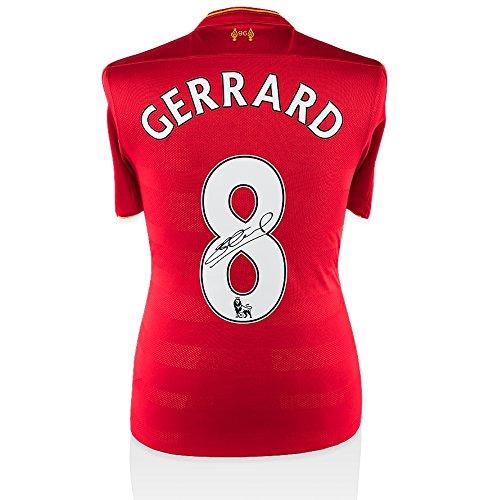 Steven Gerrard Signed Liverpool Shirt #8 - Home, 2016/2017