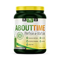 About Time - Protein+ Matcha All Natural Non-Gmo Whey Protein Isolate Powder 174663