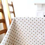 Beige 140*200cm Poisson Rouge japonais scandinave Instagram Nappe en coton et lin de pique-nique Table de salle à manger rectangulaire carrée respectueux de l'environnement couvrant