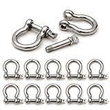 SET di 10 Grillo in acciaio per para cord bracciali, corde ecc., 34 mm x 26 mm (taglia M) - marca Ganzoo
