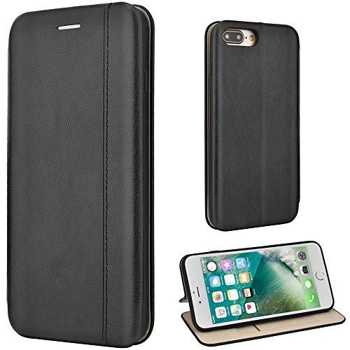Leaum iPhone 7 Plus Hülle, iPhone 8 Plus Handyhülle Leder Tasche Flip Case für Apple iP