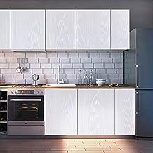 KINLO Pegatinas Muebles Madera 0.61X5M PVC Impermeable Vinilo Autoadhesivo Para Cocina Vinilo Pegatina Moderno Dibujo Vivo para Gabinetes/Muebles/Pared/Vidrio/Electrodomesticos-1 Rollo