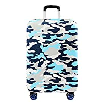 """Haodasi Anti-scratch Thicken Elastic Travel Trip Suitcase Cover Luggage Protector Bag Camouflage Pattern 18-32"""""""