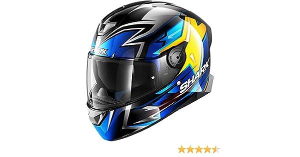 Shark Motorradhelm SKWAL 2 OLIVEIRA KBY Schwarz//Blau//Gelb XS
