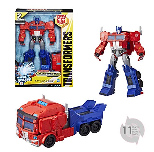 Transformers E2067ES10 Toys Optimus Prime Cyberverse Ultimate Class Action Figure, Repeatable Matrix Mega Shot Action Attack Move, Toys for Kids 6 and Up, 11.5 Inch