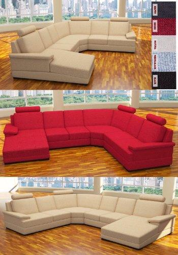 :::: MODELL ANGELINA: DESIGNER WOHNLANDSCHAFT STOFF SUNRISE (5 FARBEN, 2 AUSRICHTUNGEN) > KOSTENLOSER VERSAND in AT & DE ! > BERATUNG: Tel: 0043(1)715-16-16, (Mo. bis Fr. 9.30 bis 15 Uhr) oder E-Mail: office.at@vienna-international-furniture.com :::