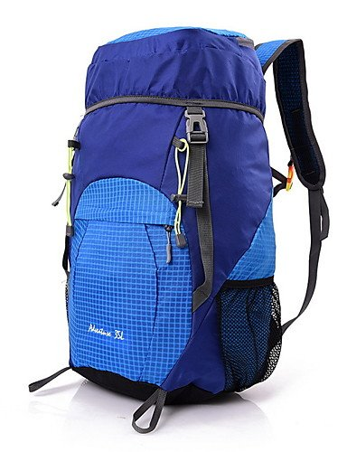 HWB/ 35L L Tourenrucksäcke/Rucksack Camping & Wandern / Klettern Draußen Multifunktions Gelb / Rot / Grau / Blau / Purpur Nylon No Blue