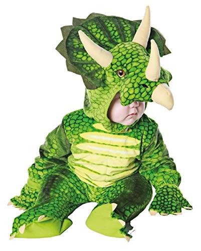 Horror-Shop Grünes Triceratops Dinosaurier Faschingskostüm für Kleinkinder & Babys XL