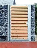 Törchen / Einbau-Breite 105cm / Einbau-Höhe 150cm / 1-flügelig Verzinkt Holz-Füllung / Holz Tor Gartentor Holztor Pforte Tor