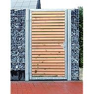 Törchen / Einbau-Breite 105cm / Einbau-Höhe 180cm / 1-flügelig Verzinkt Holz-Füllung / Holz Tor Gartentor Holztor Pforte Tor