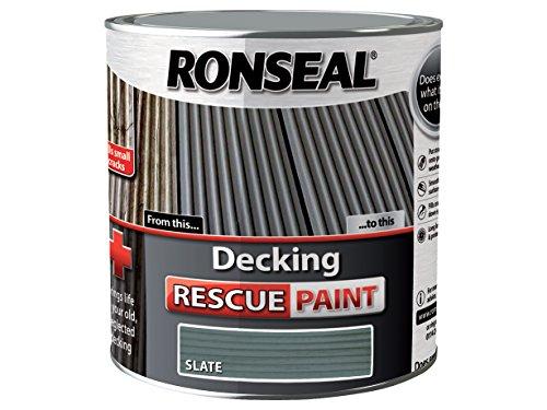 Pittura Per Esterni Grigia : Ronseal rsldrps5l vernice per ritocco pavimenti esterni in legno