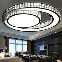 GQLB Deckenleuchte Traum Led Einfache Moderne Wohnzimmer Beleuchtung Runden Kristall Lampe Restaurant Schlafzimmer