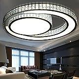 GQLB Deckenleuchte Traum led Deckenleuchte einfache moderne Wohnzimmer Beleuchtung runden Kristall Lampe restaurant Lampe Schlafzimmer lampe Tischlampe (Durchmesser 450 mm), Weiß