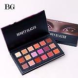 BEAUTY GLAZED Profi Augenpalette 18 Farben Lidschatten Palette Kosmetik Shimmer Matt Glitzer Makeup Eyeshadow Palette