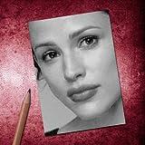 Seasons JENNIFER GARNER - ACEO Sketch Card (Signed by the Artist) #js010