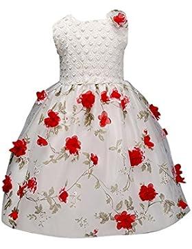 Vestido de Fiesta Niña Flor Gasa para Boda Fiesta