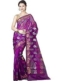 Chandrakala Cotton Silk Saree (8425_Purple)