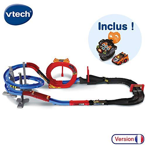 VTech - Turbo Force - Méga Circuit Super Loop + Montre Voiture, circuit voiture enfant avec voiture télécommandée et montre