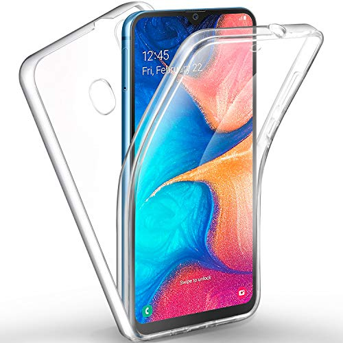 AROYI Samsung Galaxy A20e Hülle 360 Grad Handyhülle, Silikon Crystal Full Schutz Cover [Hart PC Zurück + Weich TPU Vorderseite] Vorne und Hinten Schutzhülle für Samsung Galaxy A20e (5,8 Zoll) Schutz-cover