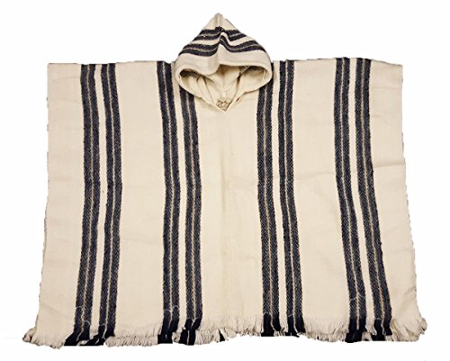 south-american-100-wolle-hand-made-streifen-poncho-weiss-grau
