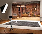 YongFoto 2,2x1,5m Vinile Sfondo Fotografico Casa in legno rurale Piccolo fienile Autunno Fondale Foto Festa Bambini Boby Nozze Adulto Partito Studio Fotografico Puntelli