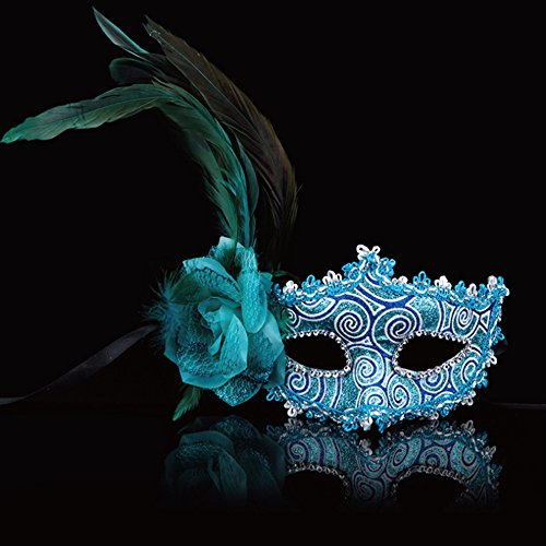 Spritech (TM) Side Rose Flores con plumas Halloween Dance Party Prince