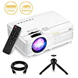 GBTIGER Vidéoprojecteur Full HD 2500 Lumens Rétroprojecteur Portable Vidéo Projecteur LED Supporte 1080p Compatible avec Fire TV Stick, Clé USB, Smartphone, PC, Tablette, DVD,PS3 2018 Nouvelle Version