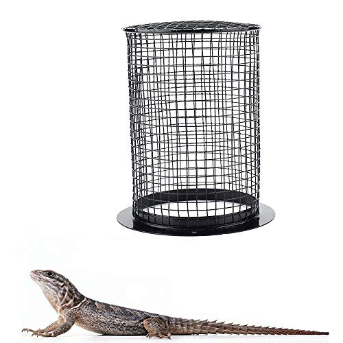 ZYZ Reptile Verbrühschutz-Lampenschirm, Abdeckung Keramik-Heizlampe Tageslicht-Lampenschirm Runder Pflege-Lampenschirm für Reptilien-Amphibien -