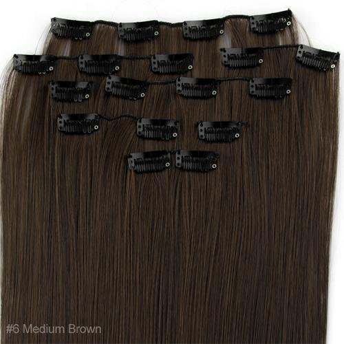 FACILLA® 8 X Extension A Clips De Cheveux Fibre 15\\