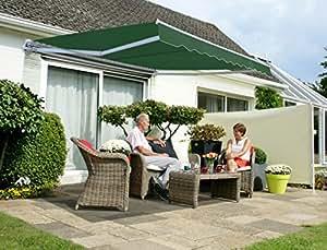 Tenda da Sole Avvolgibile manuale conveniente da 2.5mt colore verde