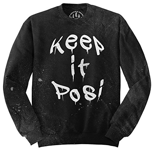 Orso Knuckle combattenti Maglione Fashion - BKB Keep It Posi Charcoal X-Large