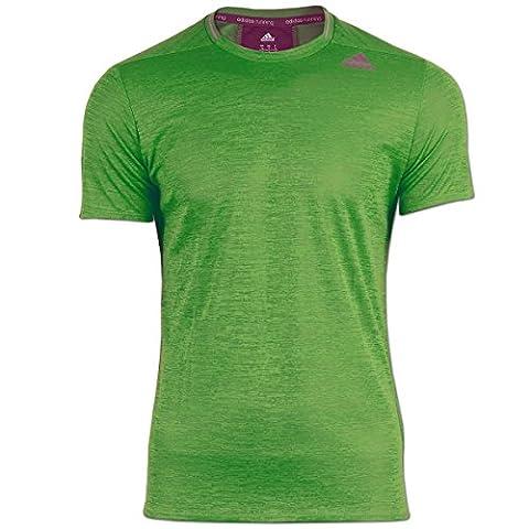 adidas Herren Supernova Short Sleeve T-Shirt (grün,