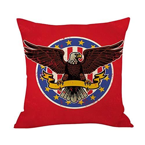 OPAKY Super Soft Independence Day Kissenbezug Sofa Pad Set Home Decoration - Visco-plüsch Matratze