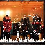 Natale Adesivi Display Rimovibile Natale Addobbi Murali Fai da te Finestra Decorazione Vetrina Adesivi e murali da parete Sticker decorativi (2 fogli X 30 * 90cm) (A)