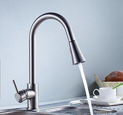 Bijjaladeva Antike Küche Spülbecken Nickel gebürstet Küche voll Kupfer Wasserhahn Mischbatterien Single - Bad Armatur Küche versorgt