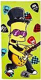 Jerry Fabrics Kinder Schwimmen Strand und Badetücher,Die Simpsons, Baumwolle, Hellgrün, 150 x 75 x 0.5 cm