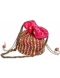 Shopolics Pink Potli Bag