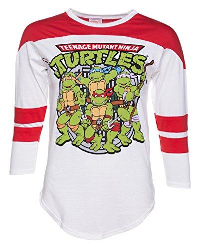 Damen T Shirt Ninja Turtles (Teenage Mutant Ninja Turtles Varsity)