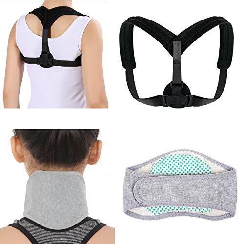 Haltung Korrektoren Haltung Unterstützung Clavicula Schulterstütze + Kopfschmerzen Relief Bandage