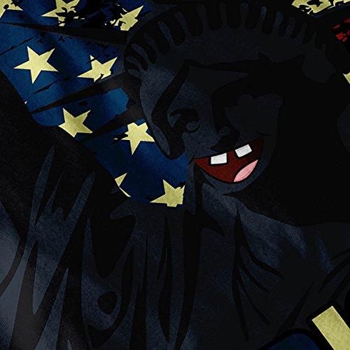 amerikanisch Prost Flagge USA Smiley Gesicht Damen S-2XL Muskelshirt | Wellcoda Schwarz