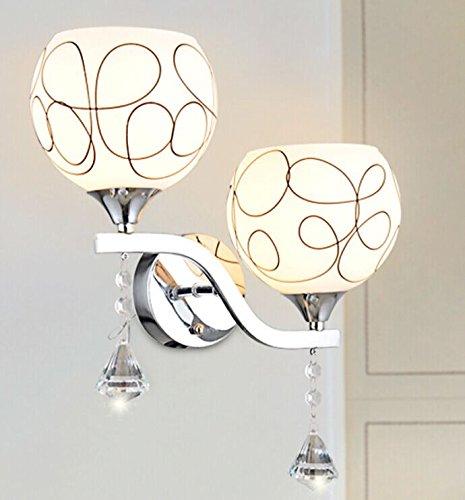 Wandun Lampada Da Parete Di Vetro Smerigliato Moderno Led E27 Rotondo,B