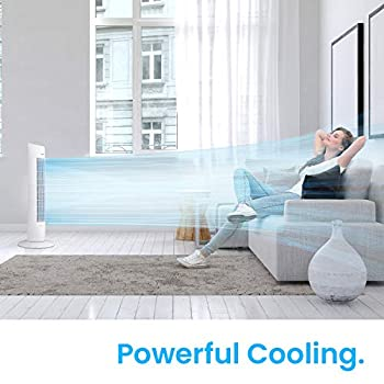Pro Breeze® 30-inch Tower Fan with Oscillation, Ultra-Powerful 60W Motor, Remote Control, 7.5 Hour Timer and 3 Cooling Fan Modes for Home and Office