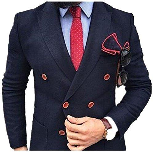 Angemessener Preis 2019 Zweireiher Erreichte Revers Männer Anzüge Zwei Stück Nach Online Schlanke Herren Formale Business Wear jacke + Hosen