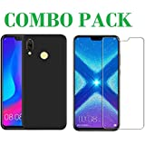 ADRY Combo Offer - Tempered Glass & Candy Back Cover_Premium Quality Screen Guard And Soft Case Cover For Huawei Honor 8X