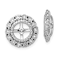 925 Sterling Silver Rhodium plated Diamond Earrings Jacket Jewelry Gifts for Women